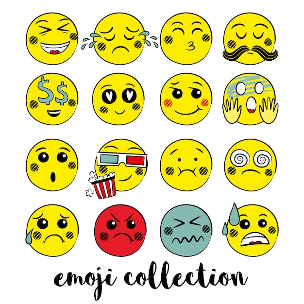 Colección De Emojis Amarillos