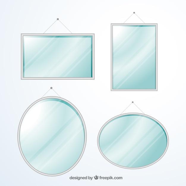 Colecci n de espejos modernos descargar vectores premium - Formas de espejos ...
