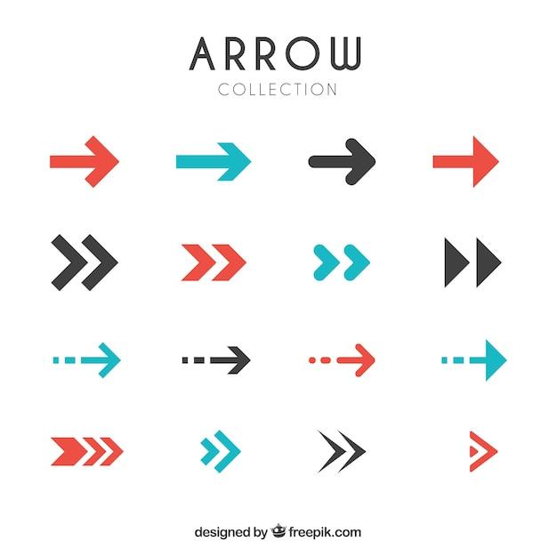Colección de flechas modernas en diseño plano  Vector Gratis