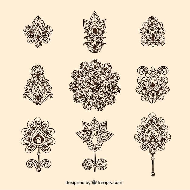 Mehndi Vorlagen Gratis : Colecci�n de flores ornamentales descargar vectores gratis