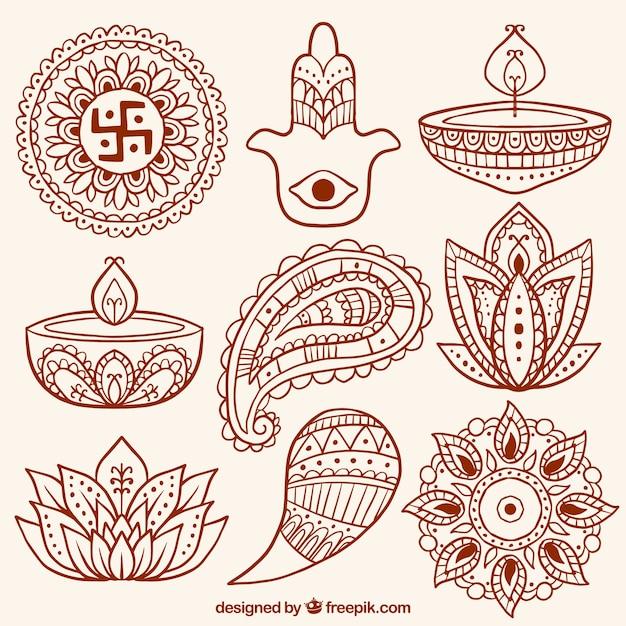 Colecci n de formas abstractas ornamentales y velas de for Formas ornamentales