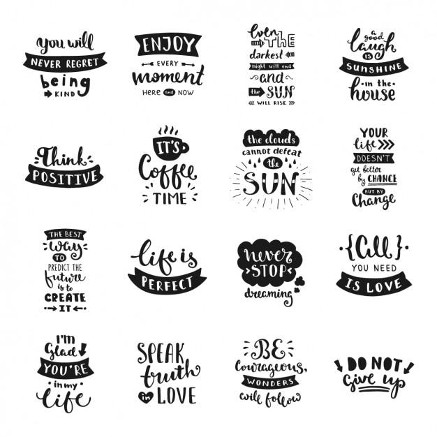 colecci u00f3n de frases escritas a mano