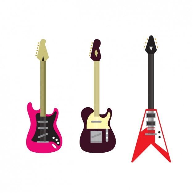 Colección de guitarras eléctricas | Descargar Vectores gratis
