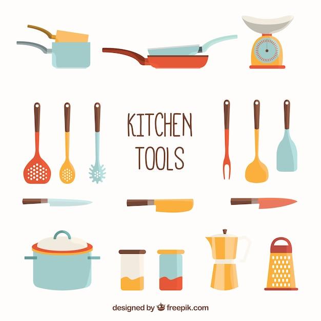 Colecci n de herramientas de cocina descargar vectores for Herramientas de cocina