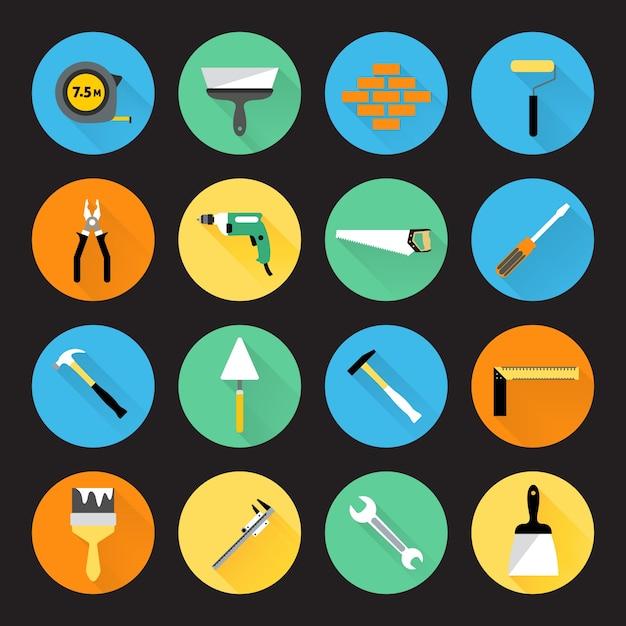 Colección de iconos de herramientas Vector Gratis