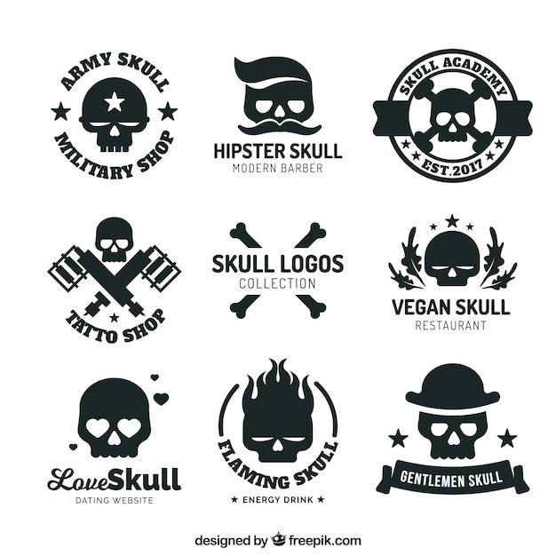 Colección de logos con calaveras | Descargar Vectores gratis
