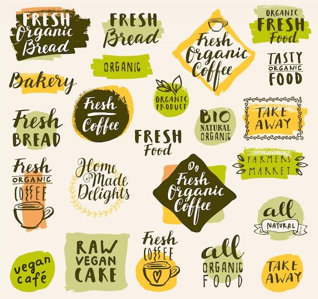 coleccin de logos de caf orgnico