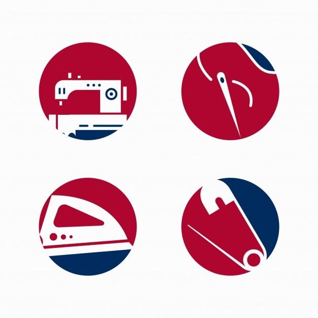 Colección de logos de coser Vector Gratis