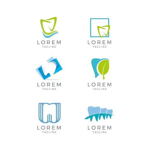 Colección de logos dentales Vector Gratis
