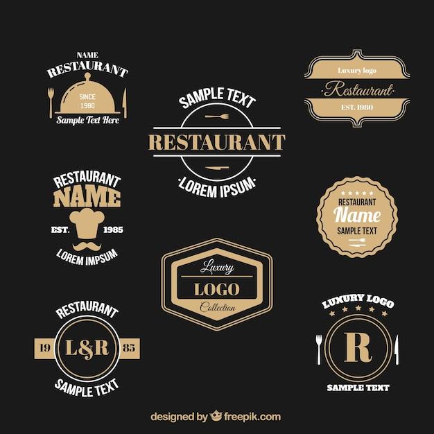 colecci243n de logos elegantes de restaurante descargar