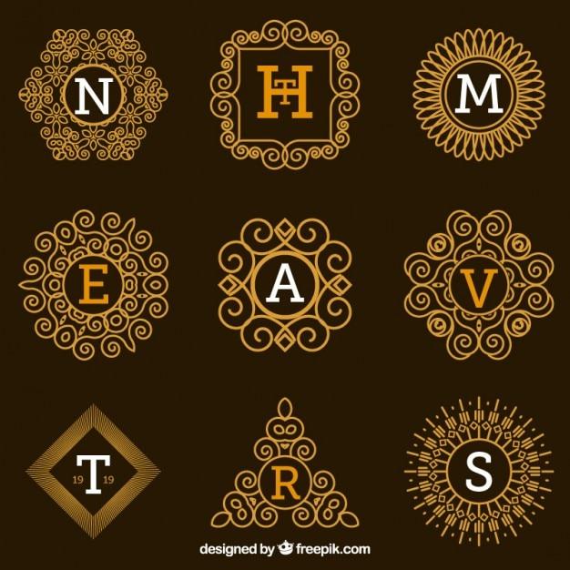 Colecci n de logos ornamental con letras descargar for Logos con letras