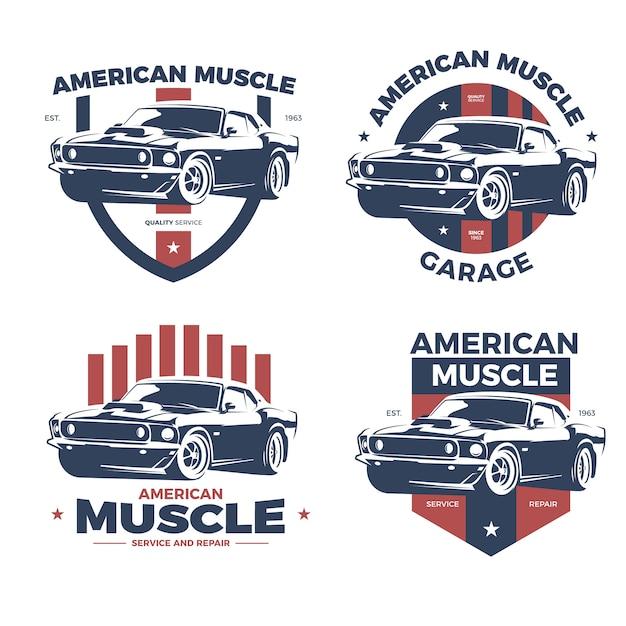 Colección de logotipo Vintage Muscle Car | Descargar Vectores Premium