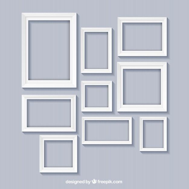 Colección de marcos blancos   Descargar Vectores gratis