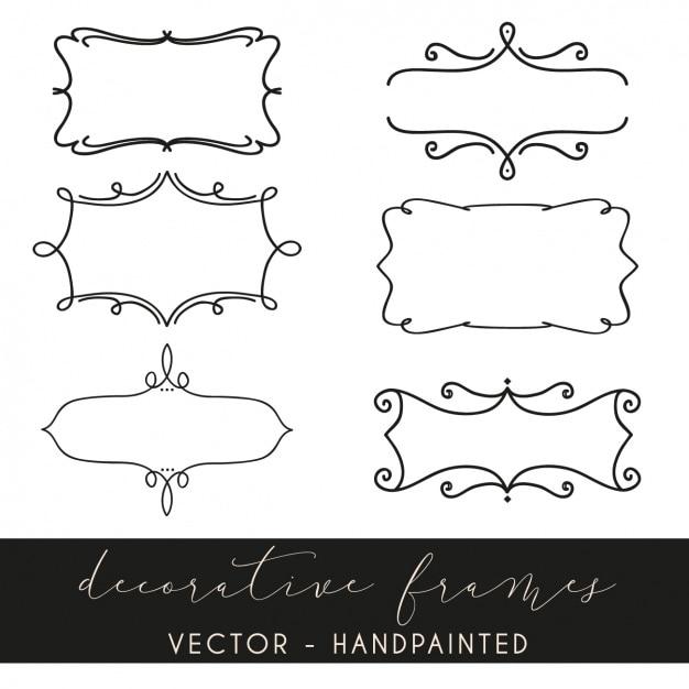 Colecci n de marcos decorativos descargar vectores gratis - Marcos decorativos ...