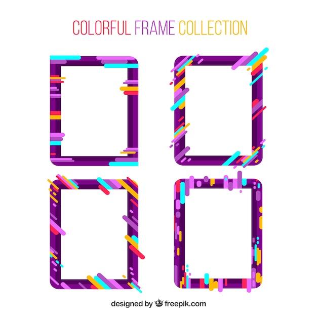 Colección de marcos en estilo colorido | Descargar Vectores gratis