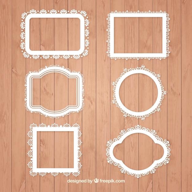 Colecci n de marcos ornamentales descargar vectores gratis - Marcos para posters ...