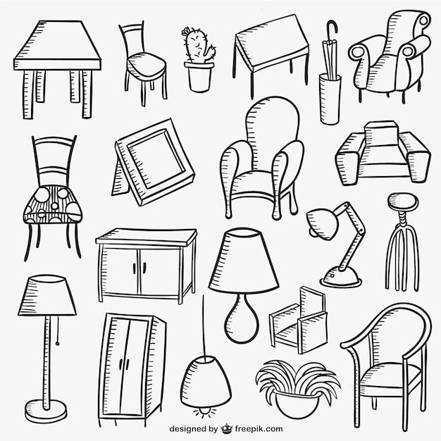 Colección de muebles del hogar  Descargar Vectores gratis