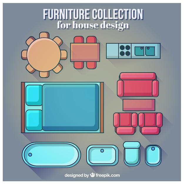 Colecci n de muebles para dise o de casa descargar for Planos y diseno de muebles