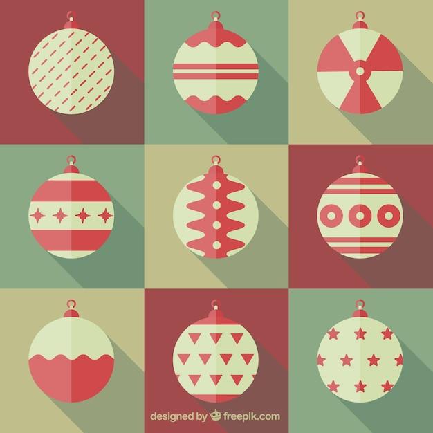 Colecci n de objetos de navidad descargar vectores gratis for Objetos de navidad