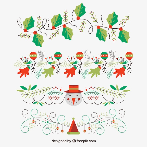Colecci n de ornamentos de navidad descargar vectores gratis - Ornamentos de navidad ...