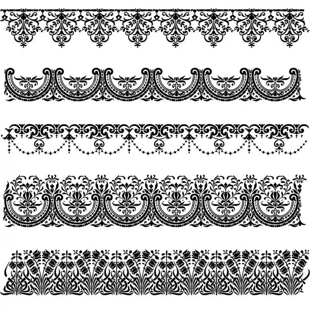 Colección de ornamentos decorativos Vector Gratis