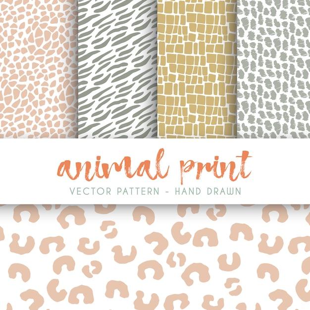Colección de patrones de manchas de animales | Descargar Vectores gratis