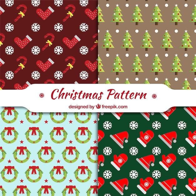 Colecci n de patrones decorativos con objetos de navidad for Objetos de navidad