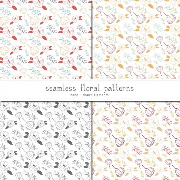 Colección de patrones florales | Descargar Vectores gratis