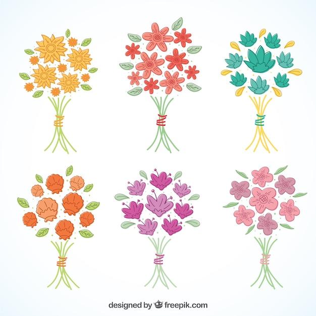 Colección de ramos de flores minimalistas | Descargar Vectores gratis