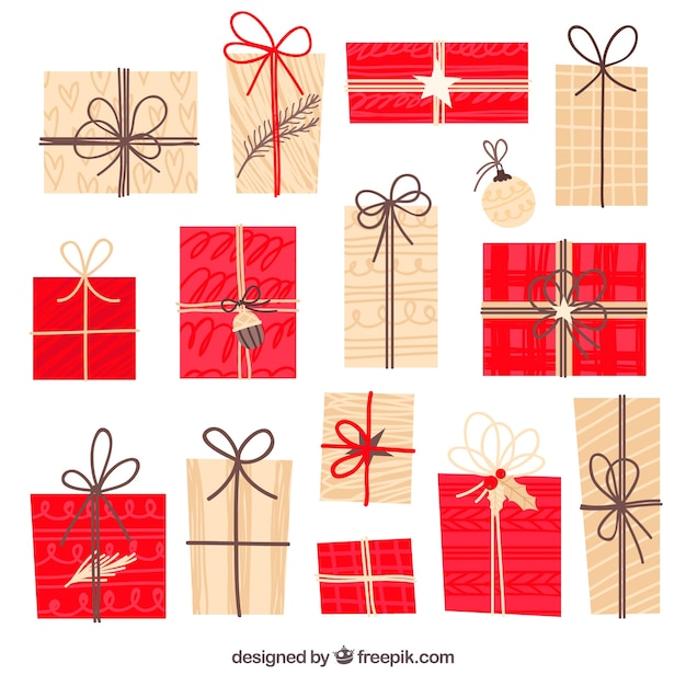 Colección de regalos navideños en diseño plano | Descargar Vectores ...