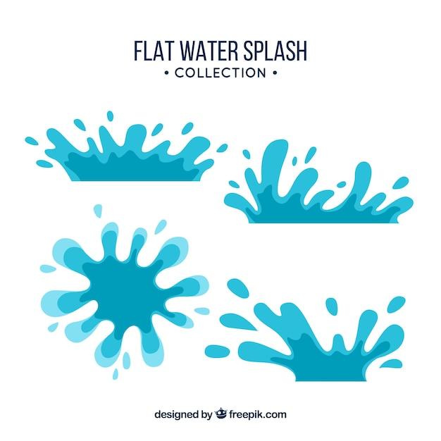 Colección de salpicaduras de agua en estilo plano | Descargar ...