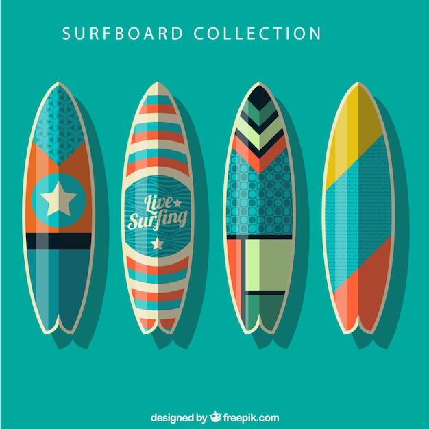 colecci n de tablas de surf con dibujos abstractos