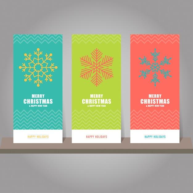 Colección de tarjetas de regalo de navidad y año nuevo, etiquetas ...