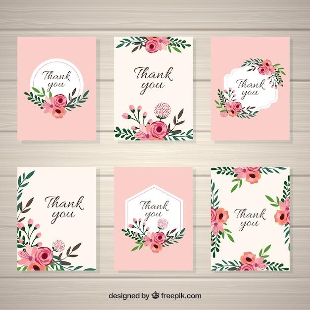 colecci n de tarjetas vintage de flores descargar