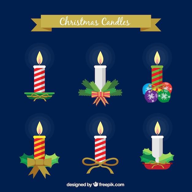 Colecci n de velas con adornos navide os descargar - Adornos navidenos con velas ...