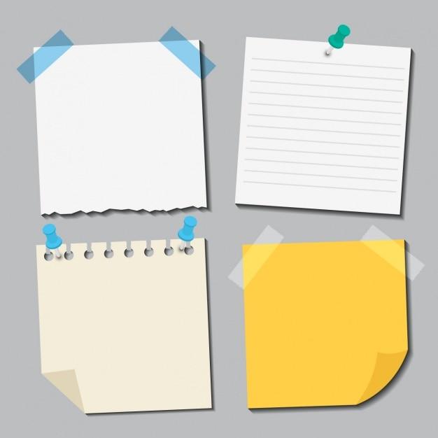 Colección de diferentes papeles vector gratuito