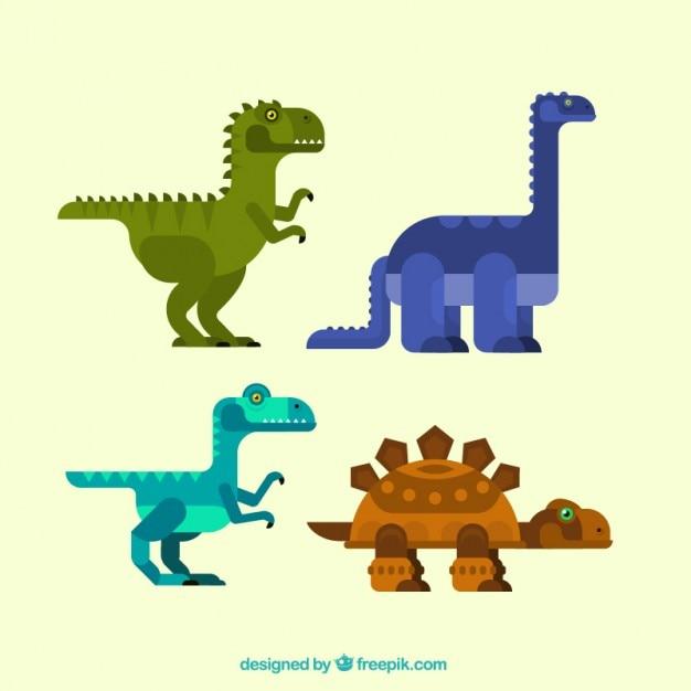 Coleccion De Dinosaurios Geometricos En Diseno Plano Vector Gratis 'lagartos terribles') son un grupo de saurópsidos que aparecieron durante el período triásico. coleccion de dinosaurios geometricos en