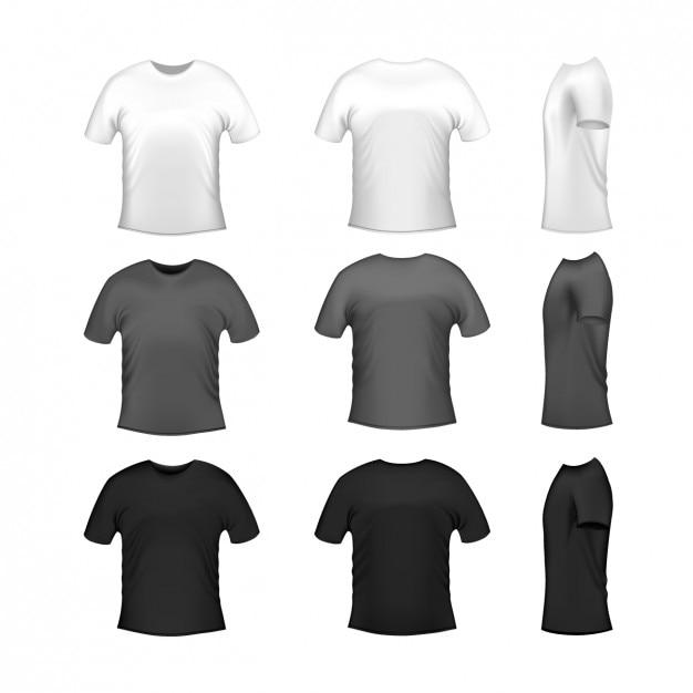 Colección de diseños de camisetas vector gratuito