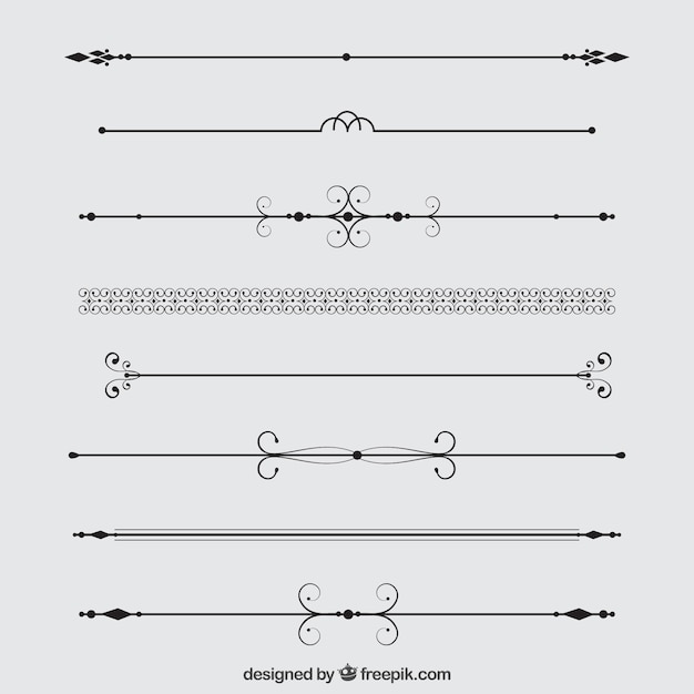 Product Line Card Template Word: Colección Divisores Decorativos
