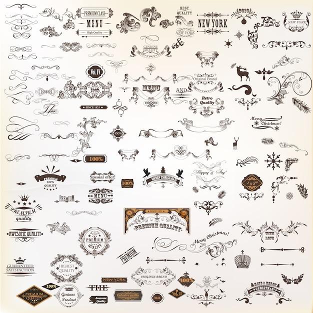 Colección de elementos decorativos vector gratuito