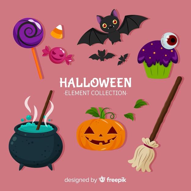 Colección de elementos de halloween vector gratuito