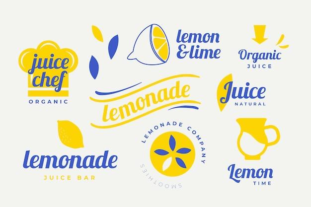 Colección de elementos de logotipo mínima en dos colores. vector gratuito