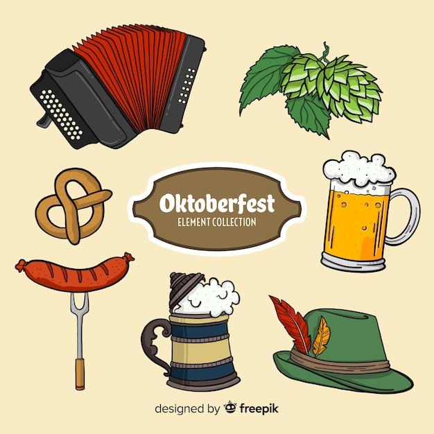 Colección de elementos de oktoberfest vector gratuito