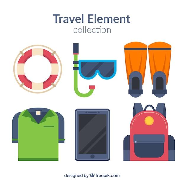 b91fd7ded Colección de elementos de viaje con diseño plano | Descargar ...