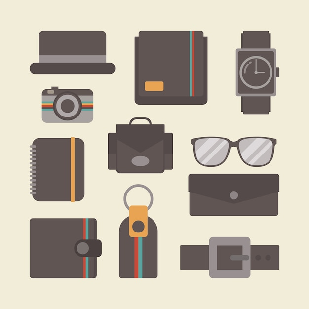 Colección de elementos vintage vector gratuito