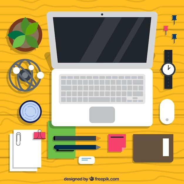 Colección de elemetos de escritorio profesional vector gratuito