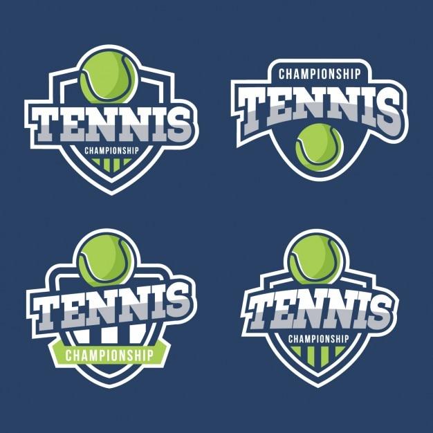 Colección de escudos de tenis vector gratuito