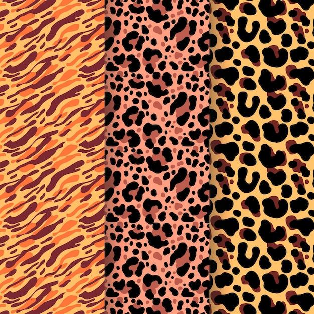 Colección de estampados animales vector gratuito