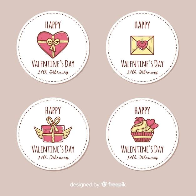 Colección de etiquetas del día de san valentín vector gratuito