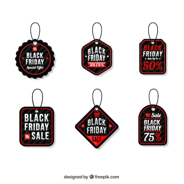 Colección de etiquetas de ofertas especiales de viernes